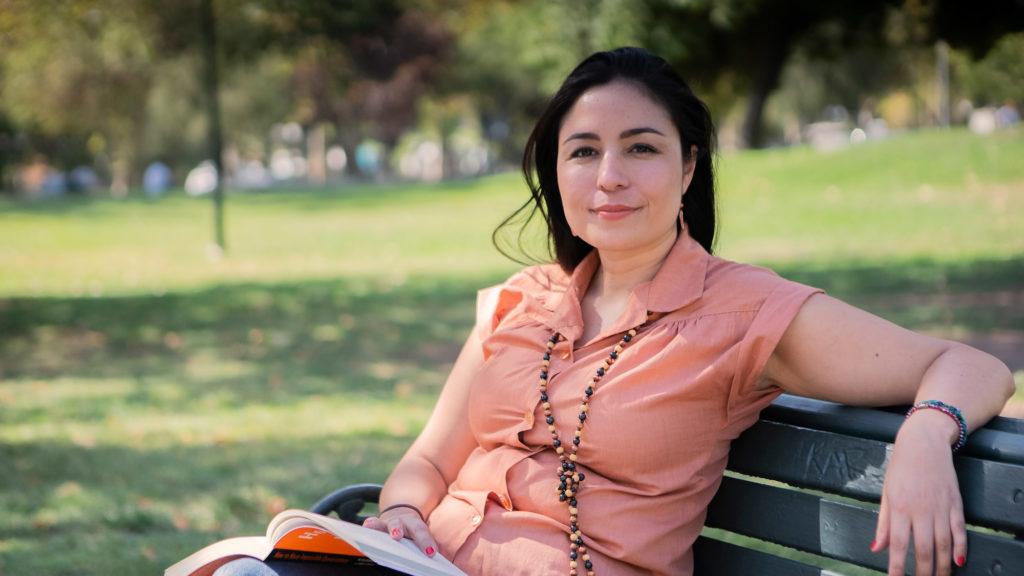 Andrea Donaire, en el parque